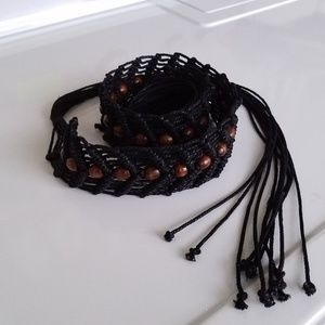 Woven Belt with Beads